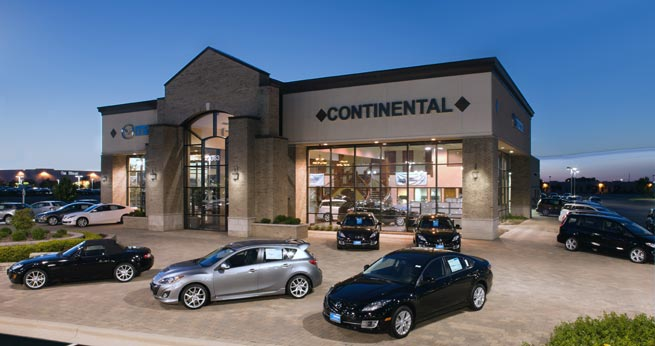 Continental Motors obtains Mazda franchise and facility at 2363 Aurora Avenue in Naperville, Illinois.