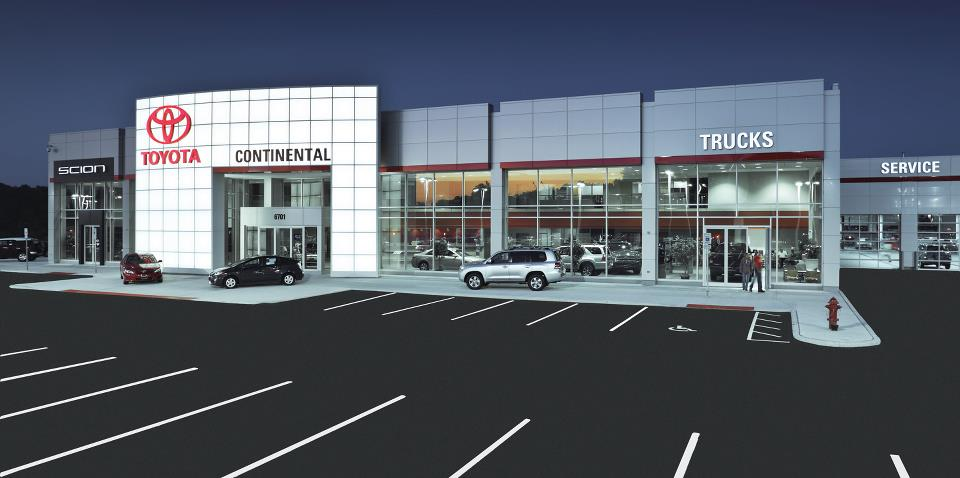 Continental Toyota Scion moved to its new 103,000 sq. ft. facility at 6701 S. LaGrange Road in Hodgkins, Illinois.