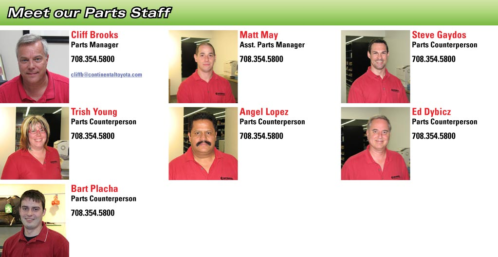 Continental Toyota Parts Staff