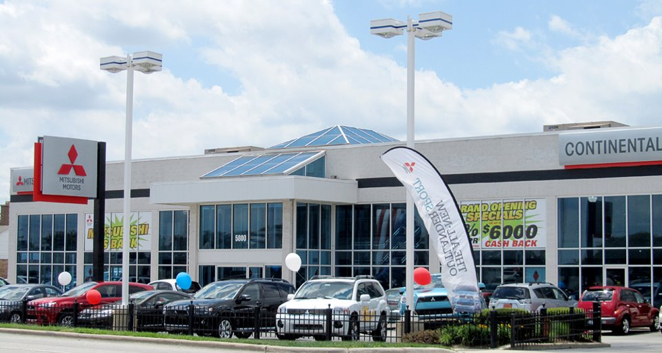 Continental Motors obtains Mitsubishi franchise and opens at 5800 S. LaGrange Road in Countryside, Illinois.
